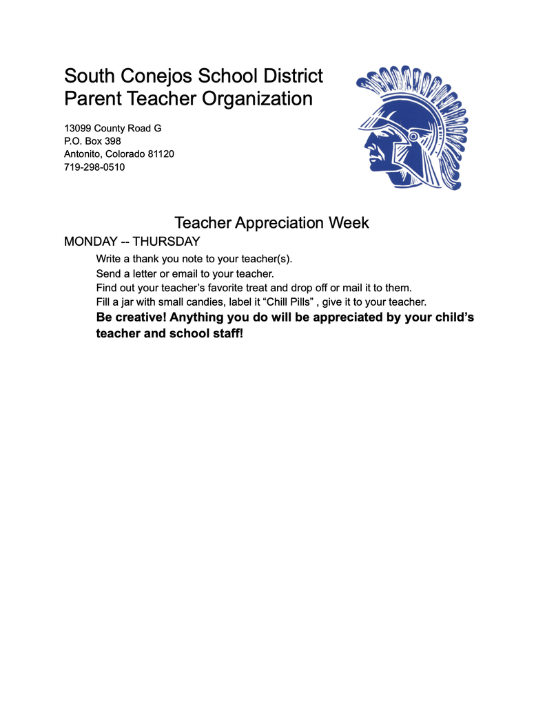 PTO Teacher Appreciation Week